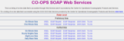 CO-OPS SOAP Web Services